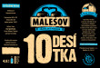 Desítka (Přátelský pivovar Malešov, 0,33 l)