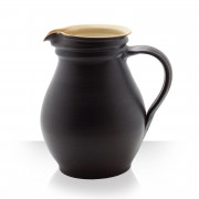 Ceramic pitcher, brown, 4 beers