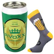 Veselé ponožky PiVoXX v plechovce