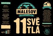 Pale Lager 11° (Friendly Brewery Malešov, 0,75 l) (kopie)