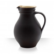 Ceramic pitcher, brown, 10 beers