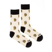 Veselé ponožky Ležák světlý
