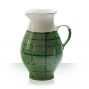 Ceramic beer pitcher, green, 5 beers