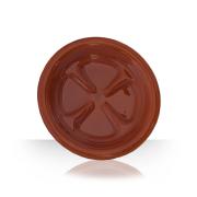 Keramický pivní tácek - hnědý