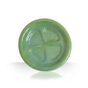 Ceramic beer coaster - bottle green