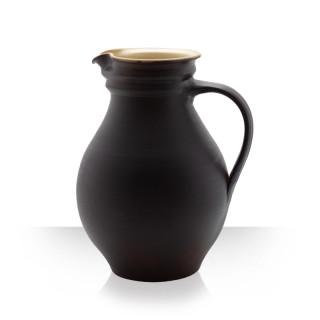 Keramický džbán na pivo, hnědý, 8 piv, baculatý