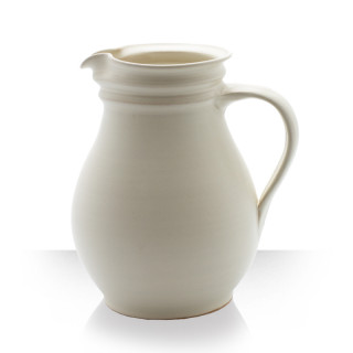 Ceramic pitcher, beige, 4 beers