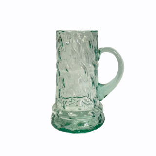 Blue Beer Glass 0,5 l (oval)