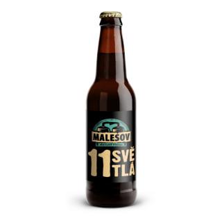 Ležák světlý 11° (Přátelský pivovar Malešov, 0,33 l) (kopie)
