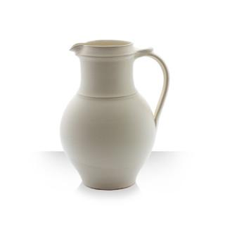 Ceramic pitcher, beige, 4 beers, štíhlý