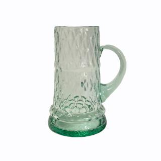 Blue Beer Glass 0,5 l (diamonds)
