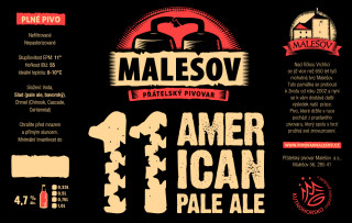 American Pale Ale 11° (0,75 l)