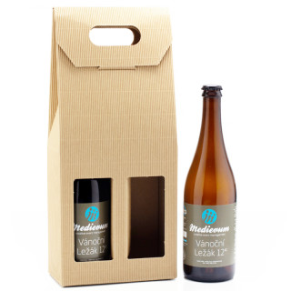 Gift beer with a corporate label (2x 0,7l)