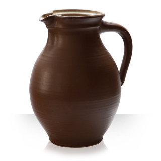 Brown Ceramic pitcher for 16 beers