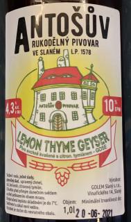 Lemon Thyme Geyser 10° (1l PET)
