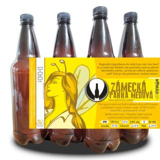 Semi-dark honey saison Zámecká panna medová 14° (1l PET)