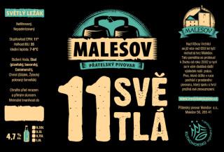 Ležák světlý 11° (Přátelský pivovar Malešov, 0,75 l) (kopie)