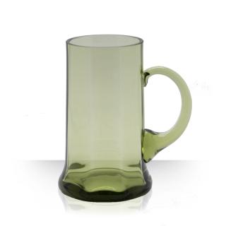 Fešák, pivní půllitr zelený