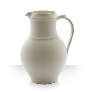 Beige Ceramic Pitcher for 6 beers