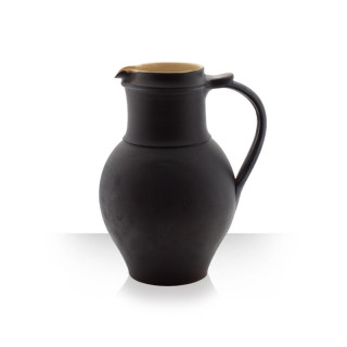 Ceramic pitcher, brown, 4 beers, thin