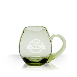 Beer small glass with a brand