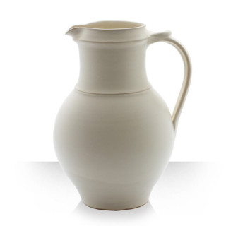 Beige Ceramic Pitcher for 8 beers Thin