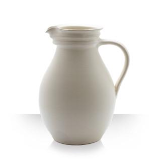 Beige Ceramic Pitcher for 8 beers