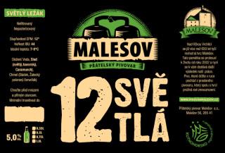 Ležák světlý (Přátelský pivovar Malešov, 0,75 l)