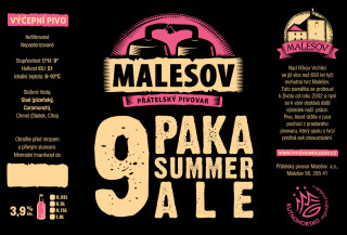 Paka Ale (Friendly Brewery Malešov, 0,75 l)