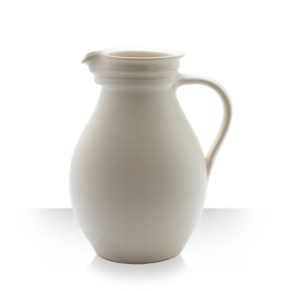 Beige Ceramic Pitcher for 6 beers thick